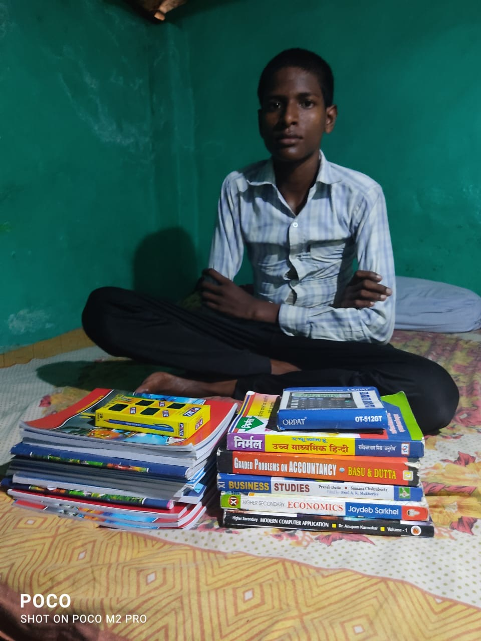 Bhola with new school books
